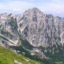pogled s steze na SV pobočju Brane proti Mrzli gori  ( 2202 m / nm ) nad Okrešljem ( trav