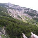 pobočja Deske ( 1970 m nm ), vzpetine z veliko travno uravnavo na vrhu, ki se dviga nad Vo