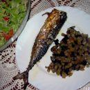SKUŠA Z JAJČEVCI  Sestavine: skuša, jajčevec, olivno olje, sol, začimbna mešanica medite