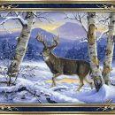 Jelen v snegu