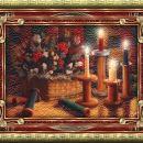 Košara in sveče
