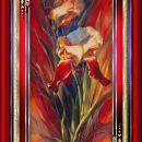 Irisa v rdečem