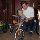 BMW kolo, sem dobil od tete Tatjane...superca!!!