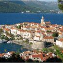 Pogled na mesto Korčula.