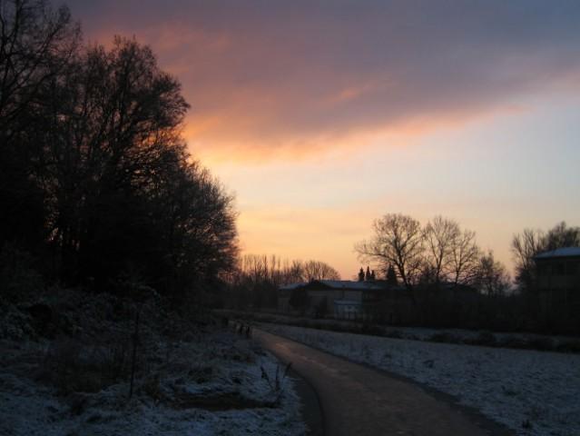 Zimski sončni vzhod