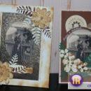 Izdelovanje vintage čestitke - Dekani 3.okt.2009 - moja druga z leve