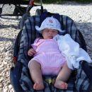 Uživala sem na plaži in sončku.
