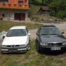 So my old white turbo and new blue turbo... the white is already tuned (on 250hp), and als
