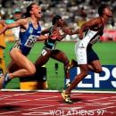 1st world championchips win in Athens 1997 (100m)!