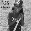Little girl who ever liked sports and was full of dreams!