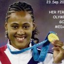 23rd september 2000, MARION's 1st Olympic gold medal (100m)!