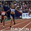 Winning the 200m final at the w.champ. 2001 in Edmonton, Canada!