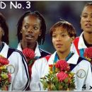 Her last competition at the Olympics 2000. the 4x400m, 3rd gold medal!