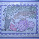 Miška in ptiček na viola ♥