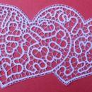 dvojno srce (sklekljan za porocno darilo)