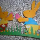 Velikonočni zajčki - naredila s pomočjo sinka in hčerke :-)