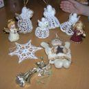 Naši angelčki za drevesce - kvačkani, šivani, vliti...