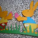 Velikonočna zajčka - malo sem pomagala svojima ustvarjalcema :-)