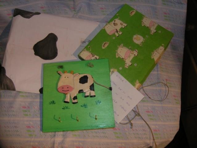 Kuverta, darilna škatlica in darilo Elis - Elene za novoletni swap.