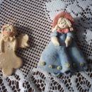 Angelček in punčka iz testa.