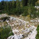 Končno po 4,5 urah na poti, ki vodi s planine Ovčareja, preko Prodov v Lopučniško dolino.